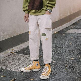Patchwork Straight Cut Pants