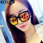 Metal-temple Mirrored Sunglasses