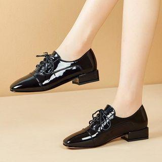 Lace-up Low-heel Oxford Shoes