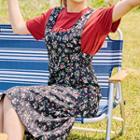 Floral Long Pinafore Dress