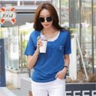 Pocket-front Layered T-shirt
