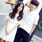 Couple Matching Short-sleeve Shirt / Short-sleeve A-line Dress
