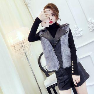 Furry Panel Vest