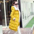 Hooded Buttoned Padded Coat