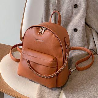 Mini Chain-accent Backpack