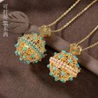 Beaded Cutout Ball Pendant Necklace