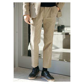 Pleat-front Corduroy Pants