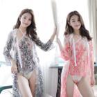 Set: Lace Camisole + Lace Robe