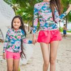 Family Matching Set: Printed Rashguard + Swim Bottom