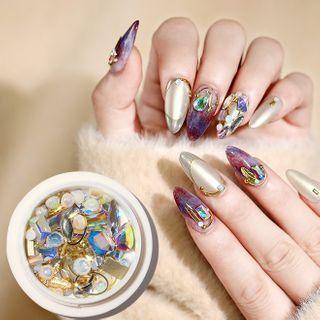 Rhinestone & Glittered Nail Art Decoration