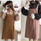 Check Shirt / Buttoned Pinafore Dress