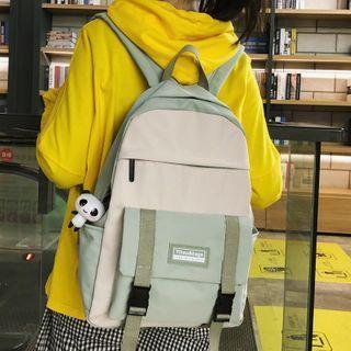 Buckled Color Block Backpack