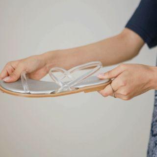 Transparent-strap Sling-back Sandals
