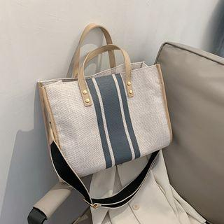 Contrast Color Tote Bag