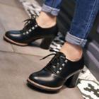 Studded Chunky Heel Oxfords