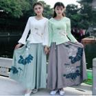 Printed Midi Maxi Skirt