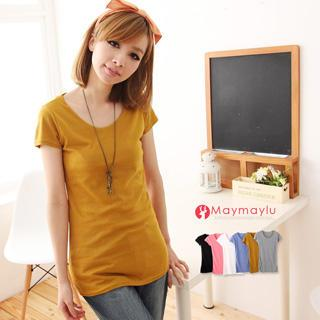 Short-sleeve Long T-shirt