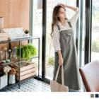 Slit-back Midi Jumper Dress