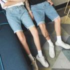 Washed Couple Matching Denim Shorts
