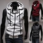 Hooded Zip-up Knit Vest