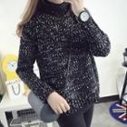 Turtleneck Marled Knit Sweater