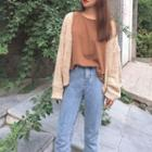 Long-sleeve Chunky Knit Cardigan
