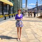 Floral Wrap A-line Miniskirt