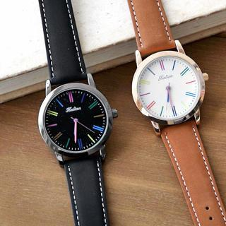 Contrast-color Strap Watch