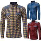 Contrast Yoke Gingham Shirt