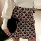 Patterned Jacquard A-line Miniskirt