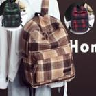 Plaid Tweed Backpack