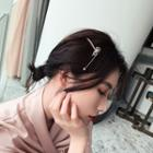 Rhinestone Bow Hair Pin As Shown In Figure - One Size