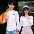 Couple Matching Cat Embroidered Shirt