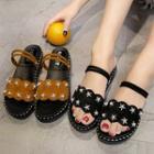 Star Studded Platform Slide Sandals