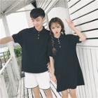 Couple Matching Short-sleeve Polo Shirt / Mini Polo Shirt Dress