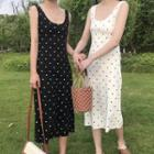 Dotted Midi Sleeveless Dress