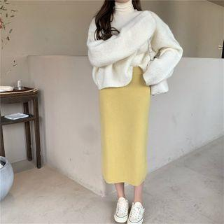 Mock-turtleneck Top / Sweater / Knit Skirt