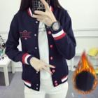 Contrast Stripe Button Jacket