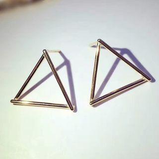 925 Sterling Silver Triangle Earrings