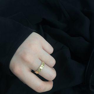 Irregular Textured 925 Sterling Silver Ring