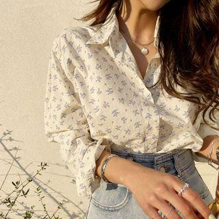 Botanical Pattern Shirt Cream - One Size