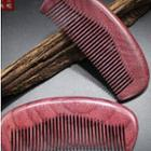 Wooden Hair Comb Light Red - One Size