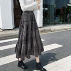 Velvet Layer Midi Skirt