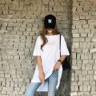 Dip-back Plain T-shirt