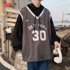Sporty Mock Two-piece Sweatshirt