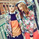 Couple Floral Baseball Jacket