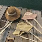 Foldable Lace Straw Hat