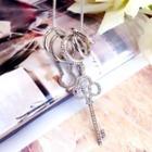 Rhinestone Key Hoop Necklace