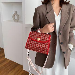Top Handle Tweed Crossbody Bag