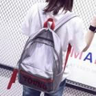 Lettering Water-proof Backpack